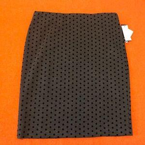 Premise gray & black polka dots pencil skirt  NWT
